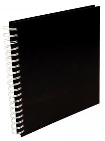 Album photo spirale carré Noir -25x25 cm (80 pages noires / 40 feuilles)