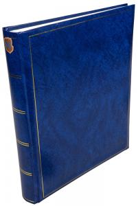 Henzo Basic Line Album photo Bleu - 30x36 cm (80 pages blanches / 40 feuilles)