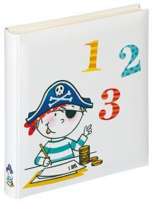 Album enfant Pirate École - 28x30,5 cm (50 pages blanches / 25 feuilles)