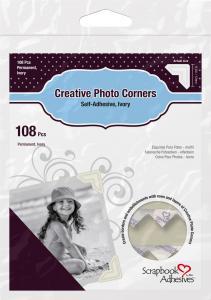 3L Creative Photo Corners Blanc - 108 unités