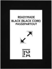Passe-partout Noir (noyau noir) 15x20 cm (9x14)