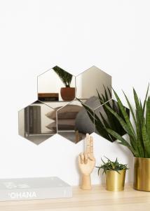 KAILA Miroir Hexagon Dark Bronze 18x21 cm - 5-pack