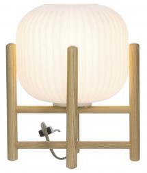 Lampe de table Vinda Petit - Bois/Blanc