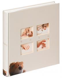 Classic Bear Album enfant Crème - 28x30,5 cm (60 pages blanches / 30 feuilles)
