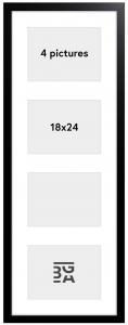 Black Wood Cadre collage - 4 images (18x24 cm)