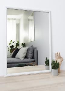 Miroir Nostalgia Blanc 50x70 cm