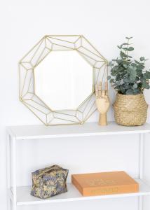 KAILA Miroir Abstract - Or 50x50 cm