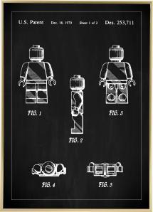 Dessin de brevet - Lego I - Noir Poster