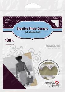 3L Creative Photo Corners Marron - 108 unités