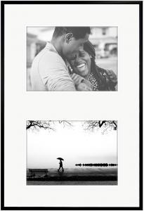 New Lifestyle Cadre collage Noir - 2 mages (20x30 cm)