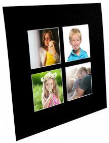 Passe-partout Noir Collage (noyau blanc) 4 images 40x40 cm