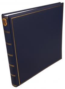Henzo Champagne Album photo Bleu - 35x35 cm (70 pages blanches / 35 feuilles)