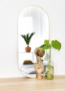 KAILA Oval Mirror - Thin Brass 35x80 cm