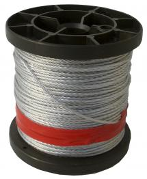 Corde en acier recouvert de plastique 50 m