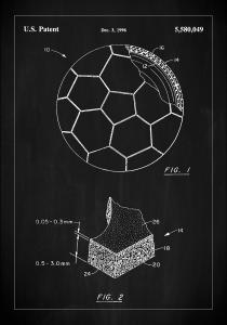 Patent Print - Football - Black Poster