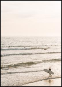 Surfers Beach Poster