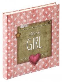 Little Album bébé Girl Rose - 28x30,5 cm (50 pages blanches / 25 feuilles)