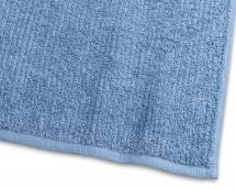 Serviette de bain Stripe Éponge - Bleu medium 65x130 cm