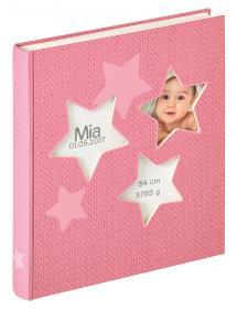 Estrella Album bébé Rose - 28x30,5 cm (50 pages blanches / 25 feuilles)