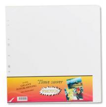 Feuilles d'album Timesaver Géant - 10 feuilles blanches