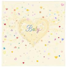 Premium Album bébé - 25x25 cm (50 pages blanches / 25 feuilles)