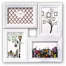 Cordoba Cadre collage Plexiglas Blanc - 4 images